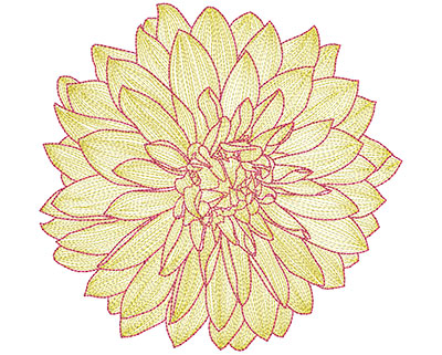 Embroidery Design: Mylar Magic Flower 29.26H x 9.67W