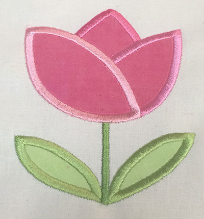 Embroidery Design: Spring Rose Applique  3.62w X 4.65h