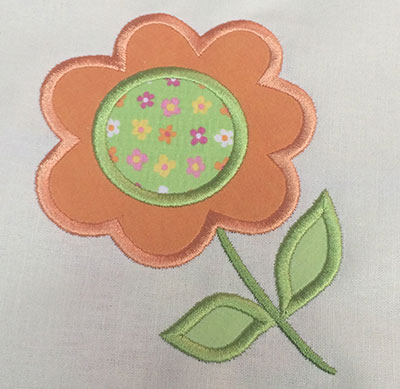 Embroidery Design: Flower Applique  4.29w X 5.16h