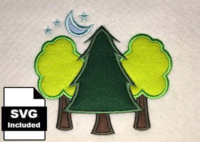 trees applique embroidery designs