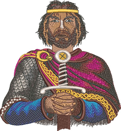 king arthur embroidery design