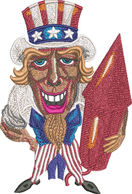 uncle sam embroidery design