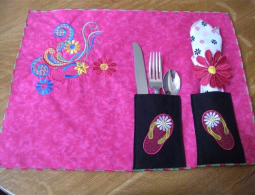 How to Embroider a Quick Placemat (Embroidery Project)