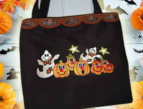 Easy DIY Halloween Trick or Treat Bag: Machine Embroidery