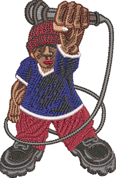 drop the mic embroidery designs